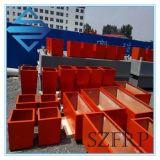 中国の新しいデザイン普及した赤FRPの植木鉢