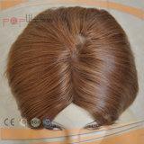 De Bruine Pruik van uitstekende kwaliteit van het Kant van het Menselijke Haar (pPG-l-01157)
