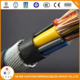 cabo elétrico subterrâneo isolado XLPE do cobre blindado do núcleo 0.6/1kv 4