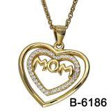 方法宝石類925の純銀製愛ペンダント