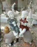 De kleurrijke Natuurlijke Snijdende Kinderen van de Steen voor de Decoratie van de Tuin