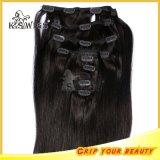 Brasil la máxima calidad Remy Clip de la Virgen en el cabello