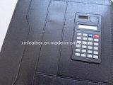 A4 unité centrale beige Leather Portfolio Folder avec Fastener Closure
