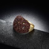 Кольцо ювелирных изделий большого сплава Brown изготовленный на заказ кристаллический имитационное
