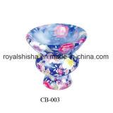 Tipo de fantasía de cerámica pequeñas Hookah tazón de acero inoxidable con tapa y titular de la carbón
