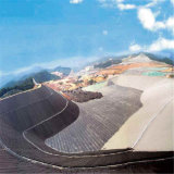 HDPE nero Geomembrane di 30mil LLDPE per materiale di riporto