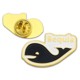 Wholesale Enamel baseball gold pin Badge for sport star Security