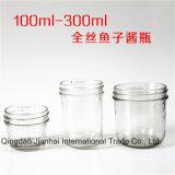 Glasflasche des Speicher100-300ml für Kaviar und in Büchsen konservierte Nahrung