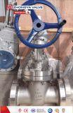 Válvula de puerta empernada dirigida por engranaje de cuña del capo de CF8m 600lb