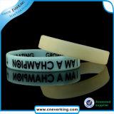 Elegante OEM bracelete de Silicone Transparente pulseiras