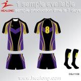 Sport all'ingrosso di Healong Cina che coprono le camice di rugby degli uomini di sublimazione dell'attrezzo da vendere