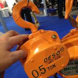 يدويّة يرفع سلسلة أو ذراع عتلة مرفاع 0.5-100 طن