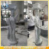 Columna griega tallada a mano pilares sólidos