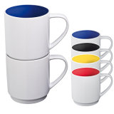 Supply all'ingrosso Cheap Ceramic Cup con Customize Color