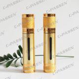Luxuxgold-/Splitter Alumite luftlose acrylsauerflasche für das Kosmetik-Verpacken (PPC-NEW-018)
