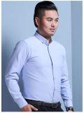 Het in het groot Witte Overhemd van het Borduurwerk van het Embleem van het Personeel Duidelijke voor Aangepast Bedrijf