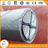 600/1000V 4 conducteurs isolés en polyéthylène réticulé à gaine en PVC blanc Câble en aluminium solide