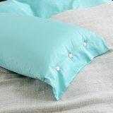 Macio de algodão egípcio de cor sólida qualidade edredão cobrir extras definidos