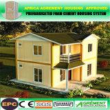 Casa de escritório Prefab do dormitório da MPE África Prefabricatedvilla para a família, trabalhos