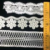 Hm Lace Factory Outlet Embroidered de Katoenen van Afrika Gebroken witte Versiering van het Kant