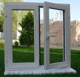 Двойное серое застекляя стеклянное окно европейского стандарта UPVC