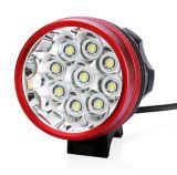 IP68 High Power 9/10/11 LED CREE Xml T6 16000lm vélo avant avant vélo