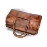 ビジネス走行のためのメーカー価格の良質のブラウン上のグレーンレザーのDuffle袋