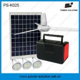 sistema di illuminazione solare 10W con 3 lampadine, FM MP3 radiofonico e ventilatore di soffitto