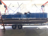 乗客の新しいモデルのための7.5mアルミニウムPontonのボート