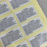 Contrassegno su ordinazione dell'autoadesivo, etichetta adesiva dell'autoadesivo di auto di stampa