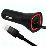 2.1A 케이블을%s 가진 지능적인 LED USB 유형 C 차 충전기