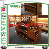 Magasin de luxe en bois de pin supermarché Wine Rack