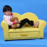 Sofá para crianças de tela dupla para cama com caixa de armazenamento