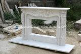 Природные ослепительно белый мраморный камин на продажу (Си-MF414)