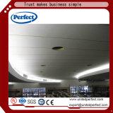 Panneau de plafond de laines de verre de bord tégulaire/tuiles acoustiques avec résistant au feu