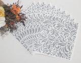 Serviette de papier estampée de pâte de bois, serviette d'usager, 1/4 serviette fois