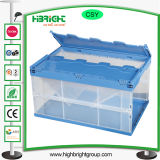 تحوّل شفّافة بلاستيكيّة متحرّكة صندوق وعاء صندوق مع تغطية