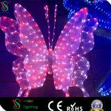 LEDの多彩な3D蝶モチーフライト動物の彫刻ライト