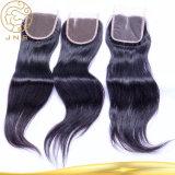 中国の卸し売り未加工自然な女性の黒の安いインドのバージンのまっすぐな人間の毛髪の拡張