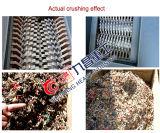 De plastic Machine van de Ontvezelmachine van de Schacht van de Machine van het Recycling van het Huisvuil Dubbele