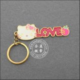 Keychain покрынное золотом, кольцо шаржа формы сердца ключевое (GZHY-YSK-0027)