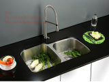 台所の流し、Cupcの証明の台紙の倍ボールの台所の流しの下のステンレス鋼