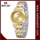 La pierre nette solaire imperméable à l'eau d'acier inoxydable de montre de loisirs de dames de Belbin couvre de tuiles la montre extérieure de quartz