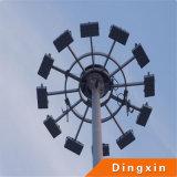 O futebol mmoeu a iluminação elevada do mastro do diodo emissor de luz de 15m com a lâmpada de inundação do diodo emissor de luz de 3PCS 180W