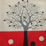 Tejido de algodón impresos digitales Volver Funda de cojín lanzar Funda de almohada