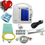 Toque paciente Tela-Javier da máquina EKG-1212A do electrocardiógrafo ECG da canaleta de Digitas 12 do cabo das ligações do padrão 12
