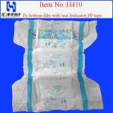Higiene Nappy / OEM Fraldas / fralda do bebê com PE película pegajosa Tape (H410)