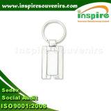 Liga de zinco personalizado chaveiro em branco