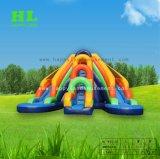 Jeux d'eau colorée de l'eau gonflable Faites glisser pour les enfants