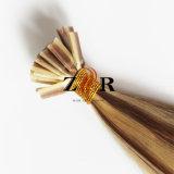 Cabelo humano desenhado natural da ponta da vara do cabelo do russo da cor de tom dois